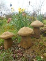 Mushroom Toadstool stone garden ornament